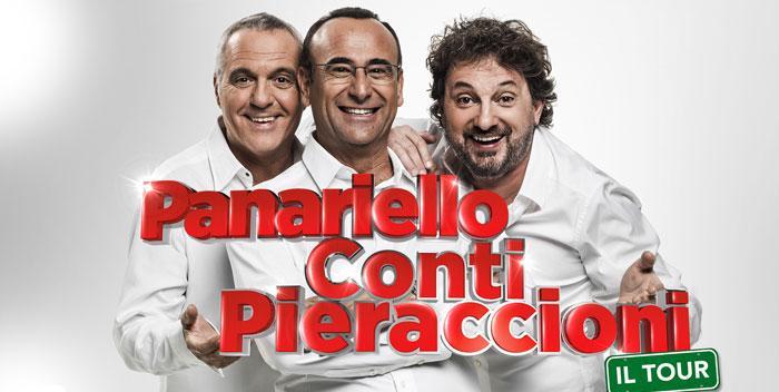 PANARIELLO CONTI PIERACCIONI TOUR TEATRALE